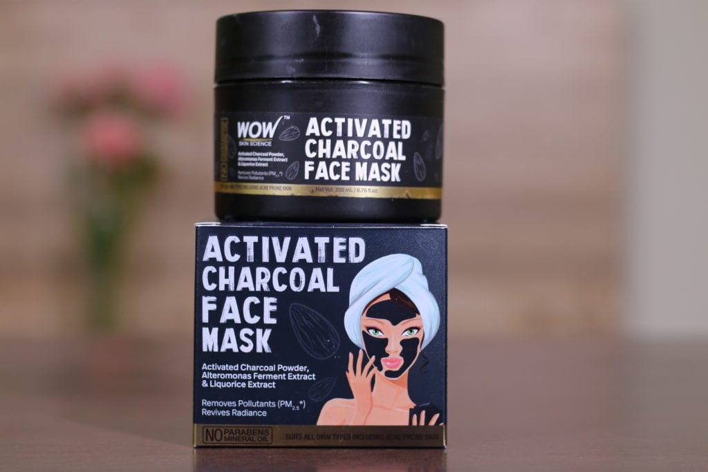 WOW Activated Charcoal Mask packaging
